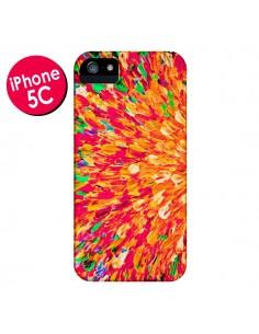 Coque Fleurs Oranges Neon Splash pour iPhone 5C - Ebi Emporium