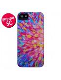 Coque Fleurs Bleues Roses Splash pour iPhone 5C - Ebi Emporium