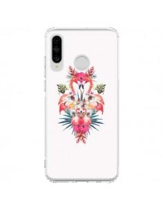 Coque Huawei P30 Lite Tropicales Flamingos Tropical Flamant Rose Summer Ete - Eleaxart