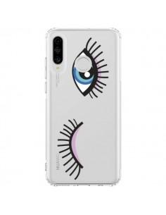 Coque Huawei P30 Lite Eyes Oeil Yeux Bleus Transparente - Léa Clément