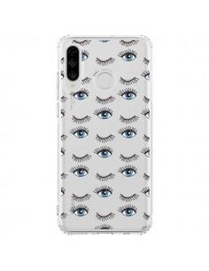 Coque Huawei P30 Lite Eyes Oeil Yeux Bleus Mosaïque Transparente - Léa Clément