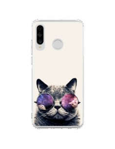 Coque Huawei P30 Lite Chat à lunettes - Gusto NYC