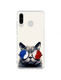 Coque Huawei P30 Lite Chat à lunettes françaises - Gusto NYC
