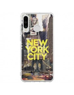 Coque Huawei P30 Lite New York City Jaune - Javier Martinez