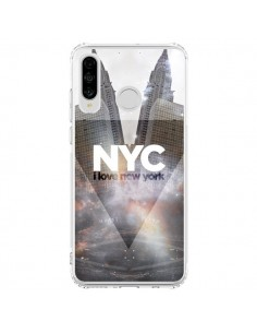 Coque Huawei P30 Lite I Love New York City Gris - Javier Martinez