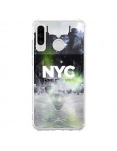 Coque Huawei P30 Lite I Love New York City Vert - Javier Martinez
