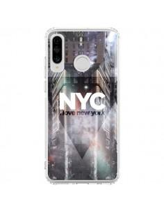 Coque Huawei P30 Lite I Love New York City Violet - Javier Martinez