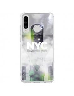 Coque Huawei P30 Lite I Love New York City Gris Vert - Javier Martinez