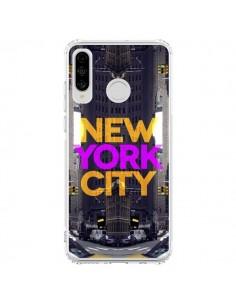 Coque Huawei P30 Lite New York City Orange Violet - Javier Martinez