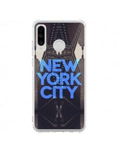 Coque Huawei P30 Lite New York City Bleu - Javier Martinez