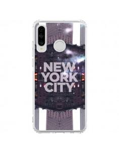 Coque Huawei P30 Lite New York City Violet - Javier Martinez
