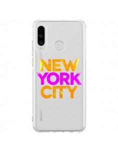 Coque Huawei P30 Lite New York City NYC Orange Rose Transparente - Javier Martinez