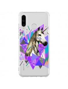 Coque Huawei P30 Lite Licorne Unicorn Azteque Transparente - Kris Tate