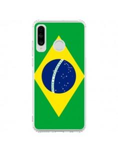 Coque Huawei P30 Lite Drapeau Brésil Brésilien - Laetitia