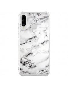 Coque Huawei P30 Lite Marbre Marble Blanc White - Laetitia